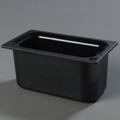 "Carlisle CM110203 Coldmaster 1/3 Size Food Pan - 6""D, Black"
