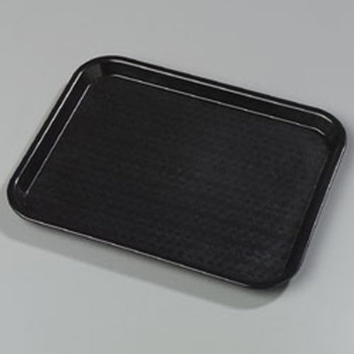 "Carlisle CT1014-8103 Rectangular Cafe Tray - (6/Pk) 13-7/8x10-3/4"" Black"