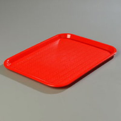 "Carlisle CT1014-8105 Rectangular Cafe Tray - (6/Pk) 13-7/8x10-3/4"" Red"