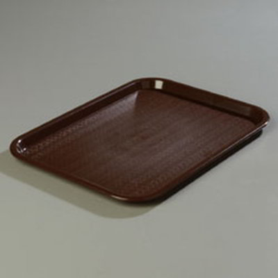 "Carlisle CT121669 Rectangular Cafe Tray - 16-5/16x12"" Chocolate"