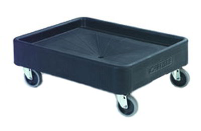 "Carlisle DL300R03 Pan Carrier Dolly - 4"" Casters, Polyethylene, Black"