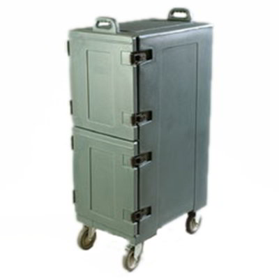 Carlisle PC600N59 Cateraide Food Carrier - Double End Loader, Insulated, Slate Blue