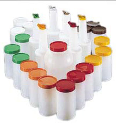 Carlisle PS601200 Store 'N Pour Bar Service Pack - Assorted Colors