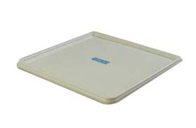 "Carlisle RHC02 20-3/8"" Square Rack Cover - Plastic, White"