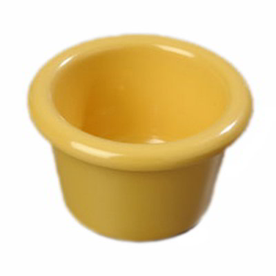 Carlisle S27522 1-1/2-oz Ramekin - Melamine, Honey Yellow