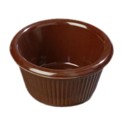 Carlisle S28269 3-oz Fluted Ramekin - Melamine, Chocolate