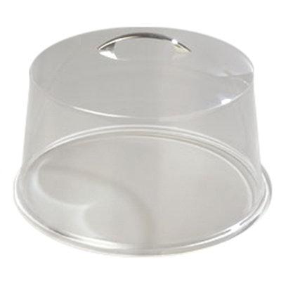 "Carlisle SC3207 11-7/8"" Round Cake Cover - Acrylic, Chrome/Clear"