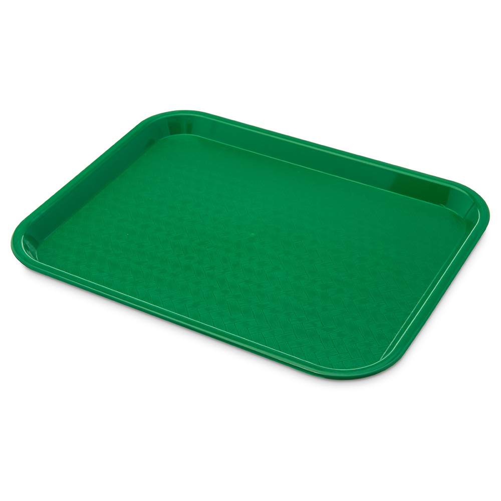 Carlisle CT101409 Fast Food Tray, Rectangular, 10 x 14 in, Polypropylene, Green