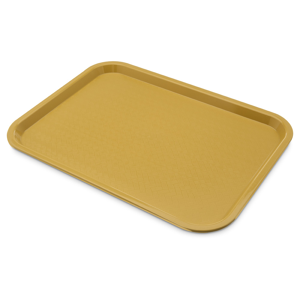 Carlisle Food Service CT121621 Fast Food Tray Rectangular 12 in x 16 in Polypropylene Gold Restaurant Supply