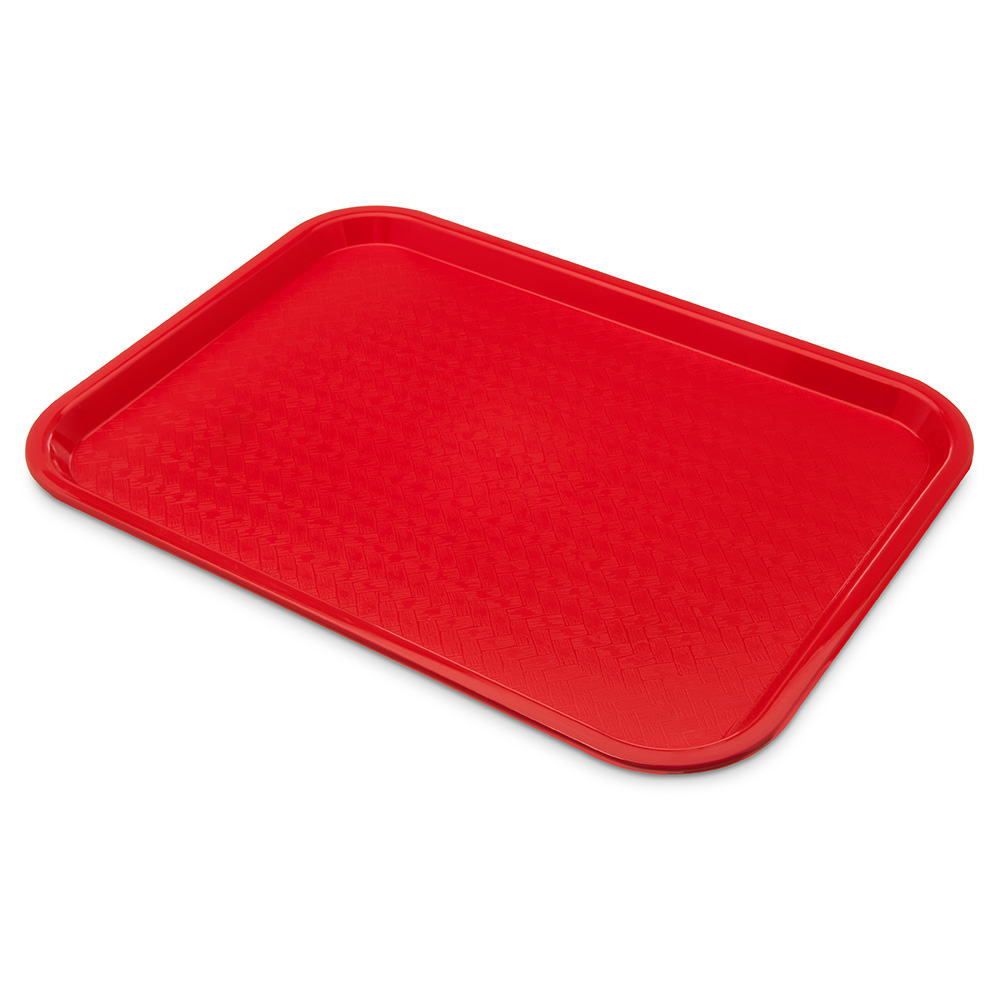 Carlisle CT121605 Fast Food Tray, Rectangular, 12 x 16 in, Polypropylene, Red