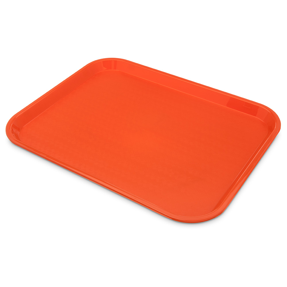 Carlisle CT141824 Fast Food Tray, Rectangular, 14 x 18 in,  Polypropylene, Orange