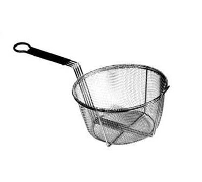 "Carlisle 601029 9-3/4"" Round Mesh Fryer Basket - Chrome/Steel"