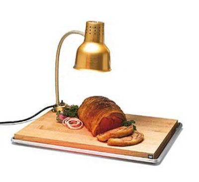 Carlisle HL8185GB21 Flexiglow Heat Lamp, 24-in Arm, Drip Pan, Cutting Board, Gold Aluminum