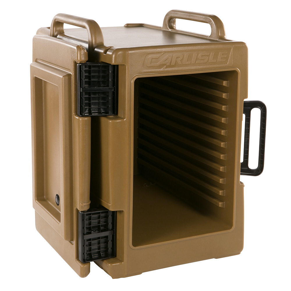 Carlisle IT40043 6-Pan End Loading Cateraide Insulated Food Carrier - Caramel
