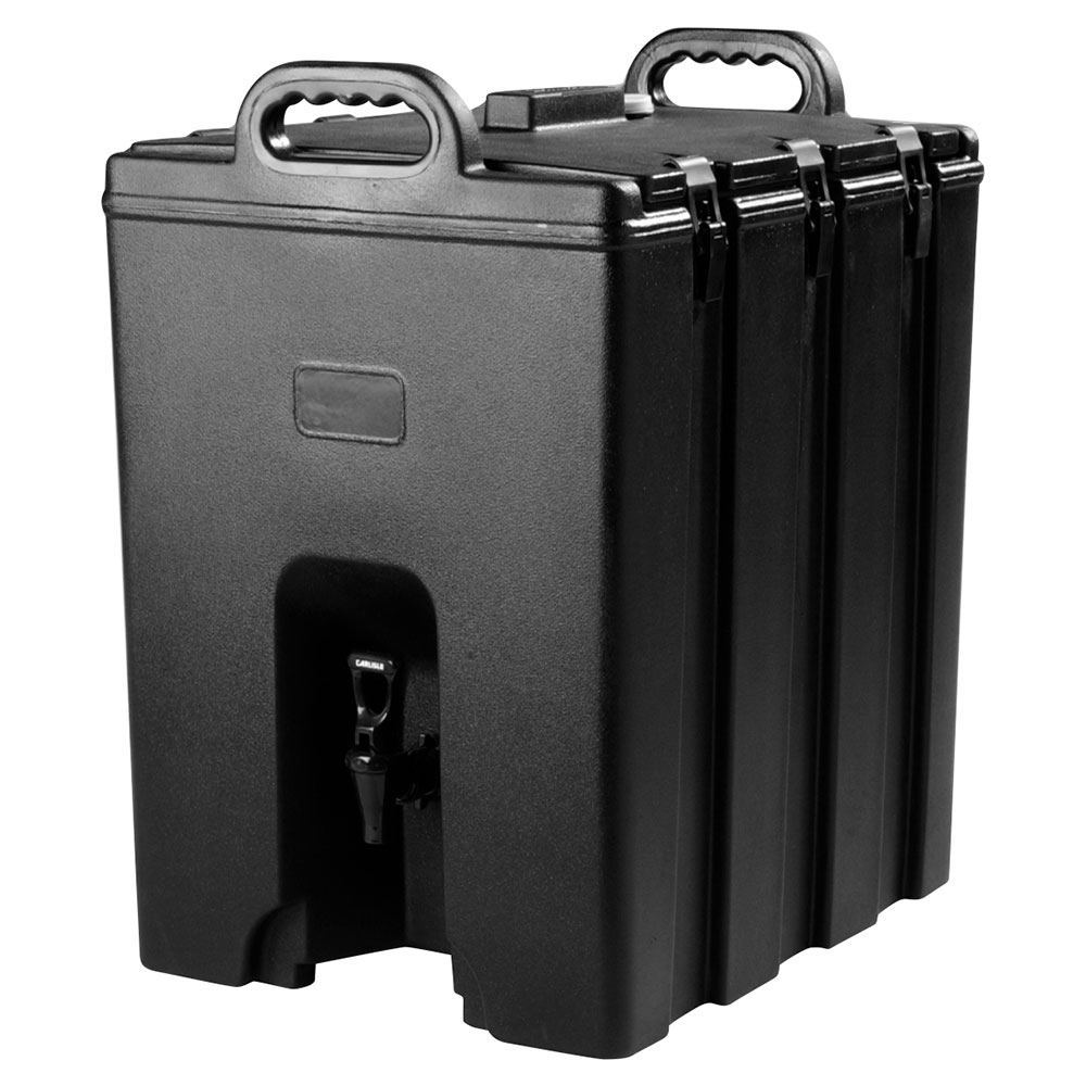 Carlisle LD1000N03 10-Gal Insulated Beverage Server, Scratch Resistant, Black