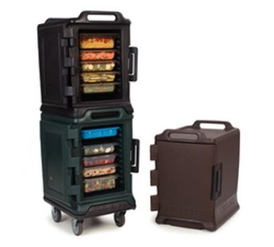 Carlisle MY400-101 Food Carrier - End Loader, Insulated, Polyethylene, Bison Brown