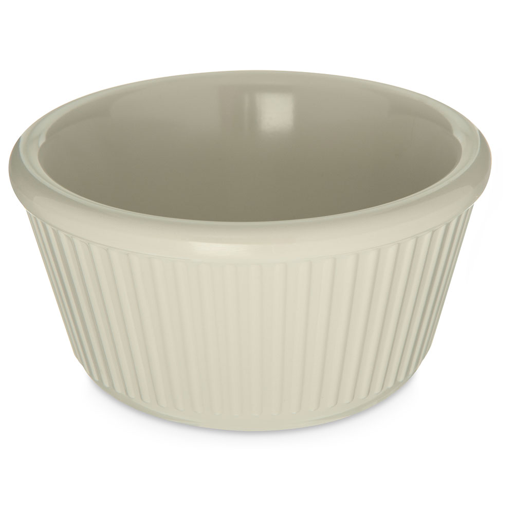 Carlisle S28742 4-oz Fluted Ramekin, Bone