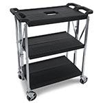 Carlisle SBC152103 Fold 'N Go Cart, Three Shelves, Small, Black