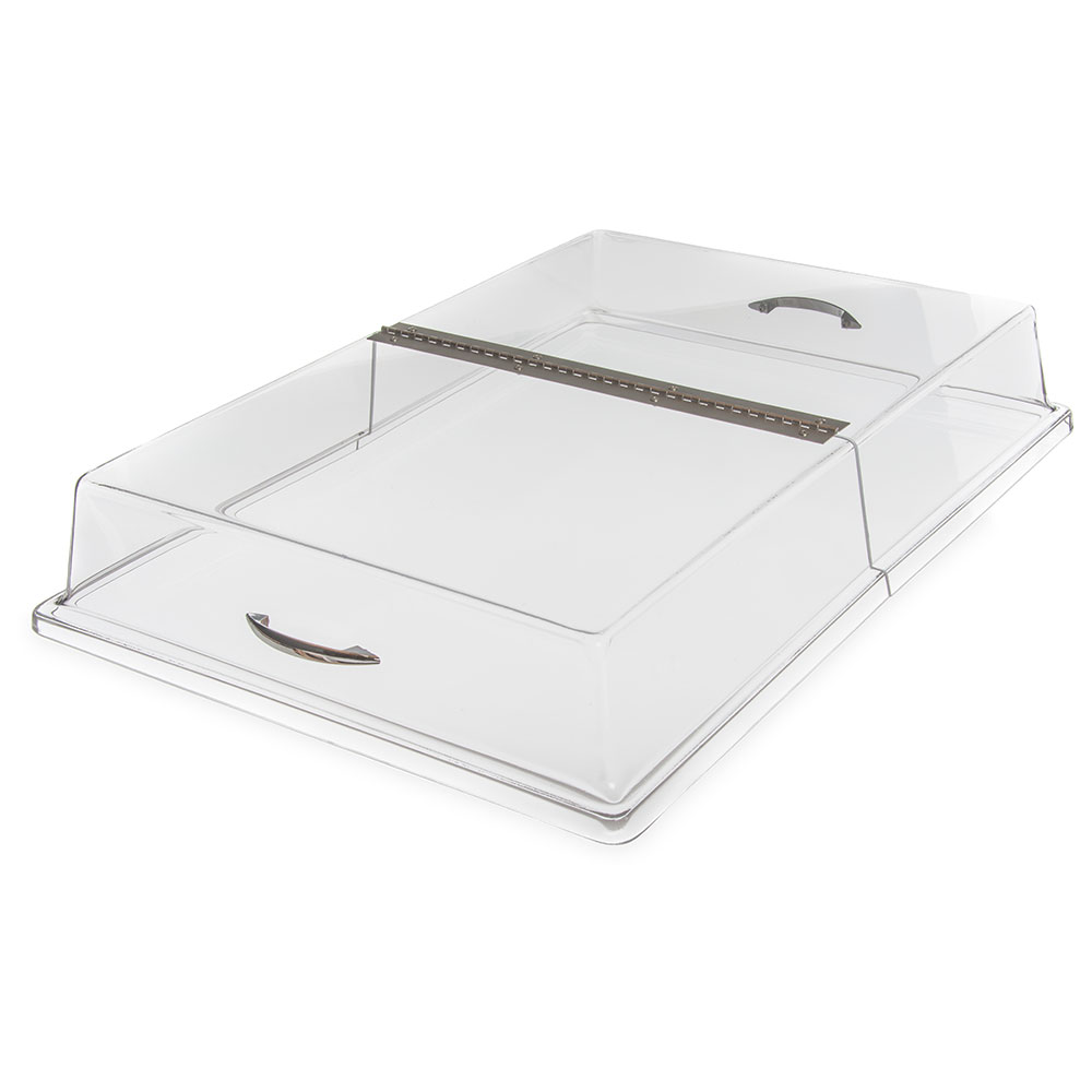 Carlisle SC2607 Hinged Clear Acrylic Pastry Tray Cover, 26 x 18 x 4-in