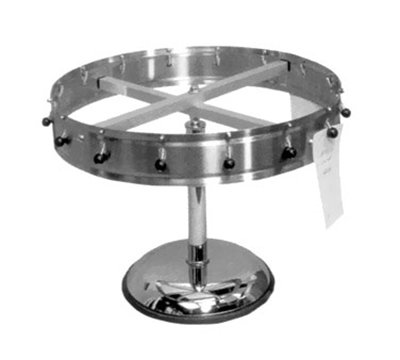 "Carlisle 3812MP 14"" Pedestal Order Wheel - Adjustable, Stainless"