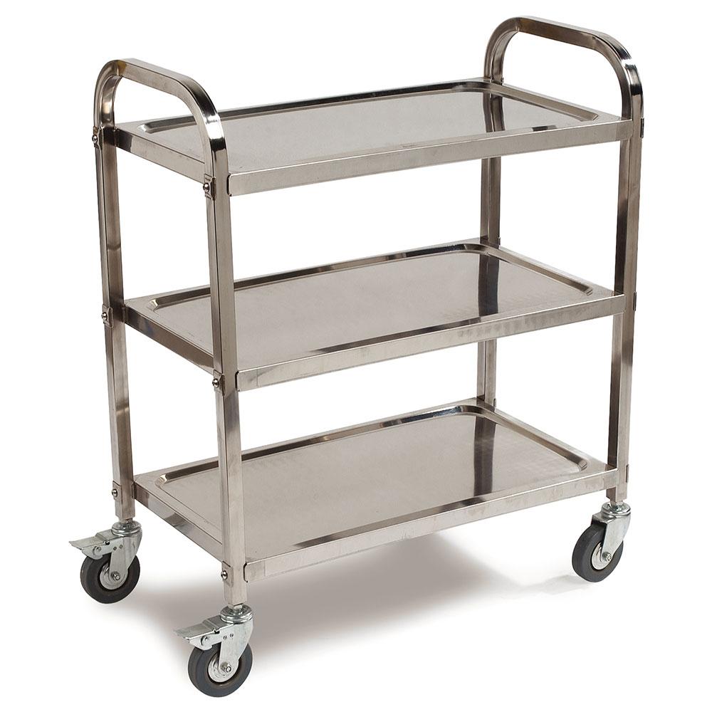 "Carlisle UC4031529 Utility Cart - 400-lb Capacity, 29-1/2x15-3/4x36"" Stainless"