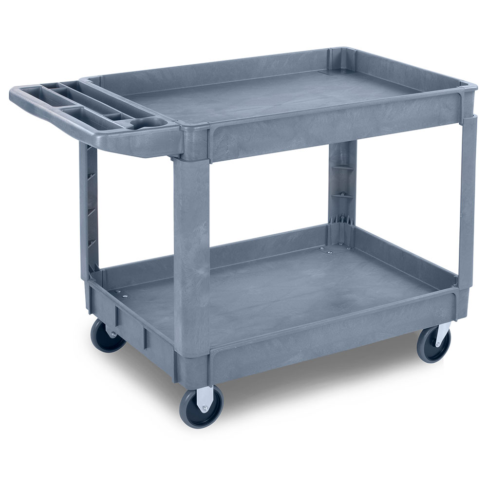 "Carlisle UC4525-23 Bin Top Utility Cart - 500-lb Capacity, 45x25x33"" Gray"