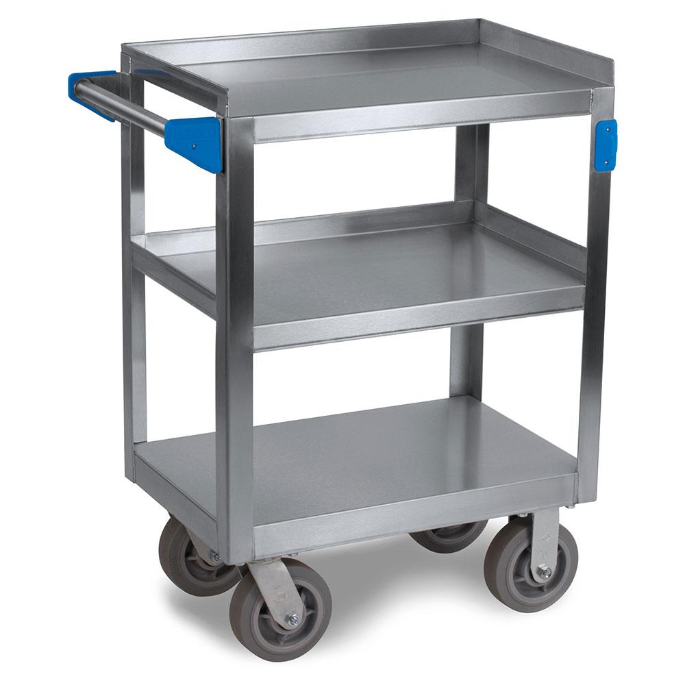 "Carlisle UC7031524 Utility Cart - 700-lb Capacity, 24x15-1/2x36"" (3)Shelves, Stainless"