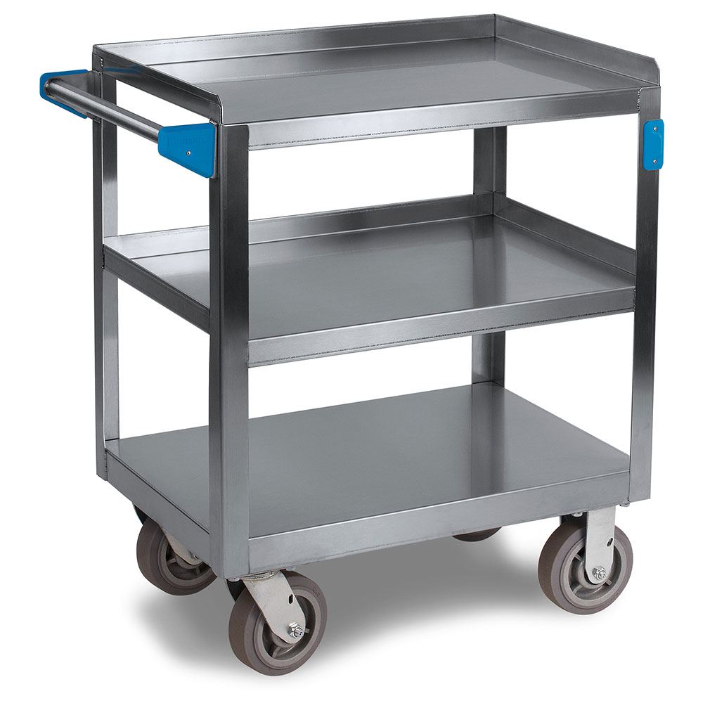 "Carlisle UC7031827 Utility Cart - 700-lb Capacity, 27x18x36"" (3)Shelves, Stainless"