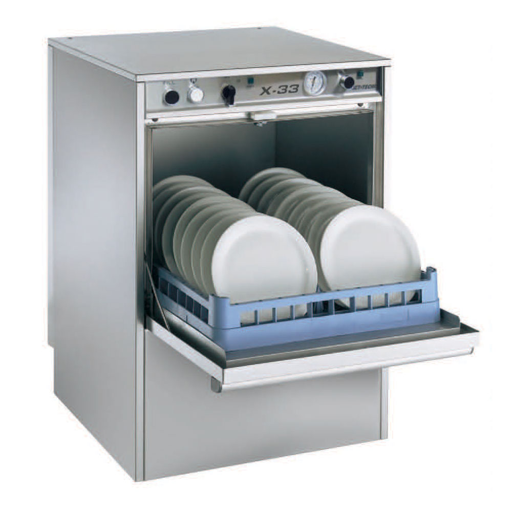 Jet Tech X33 Dishwasher, Undercounter, Low Temp, 37 Racks/Hr