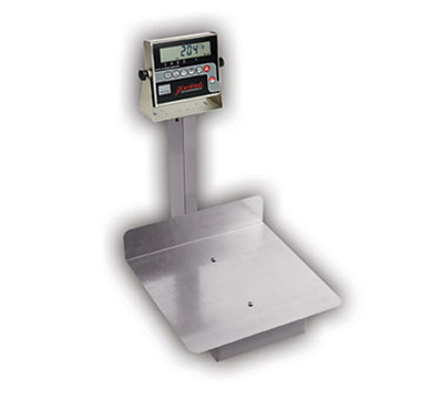 Detecto 7045G Digital Receiving Scale, .7-in LCD Display, 400 x .2-lb, lb/kg Switch