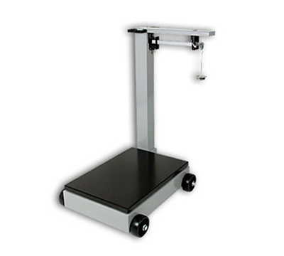 Detecto 854F50PK Floor Model Receiving Scale, Enamel Finish, 500-lb/200-kg Capacity