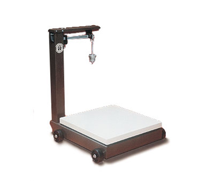 Detecto 954F100P Floor Model Balance Beam Receiving Scale w/ Enamel Finish, 2000-lb Capacity