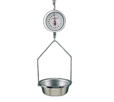 Detecto MCS-20KGF Hanging Fish & Vegetable Scale w/ 14.5-in Stainless Pan, 20-kg