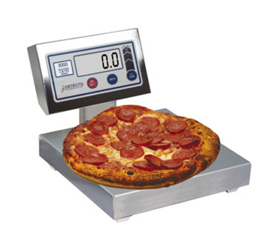 Detecto PZ3015L Digital Pizza Ingredient Scale w/ 12 x 12-in Platter, 15-lb x .12-oz