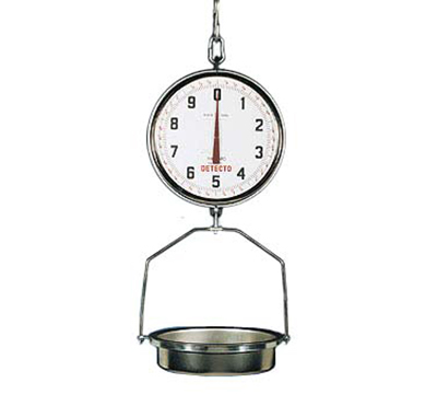 Detecto T3530 Hanging Fish & Vegetable Scale w/ 15-in Stainless Pan, 32-lb Capacity