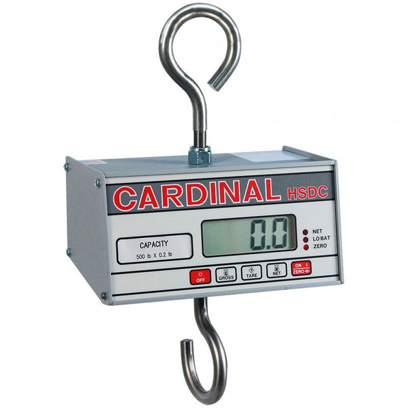 Detecto HSDC-20 Hanging Scale Head w/ 1-in Digital Readout, 200x.1-lb Capacity, Battery Powered