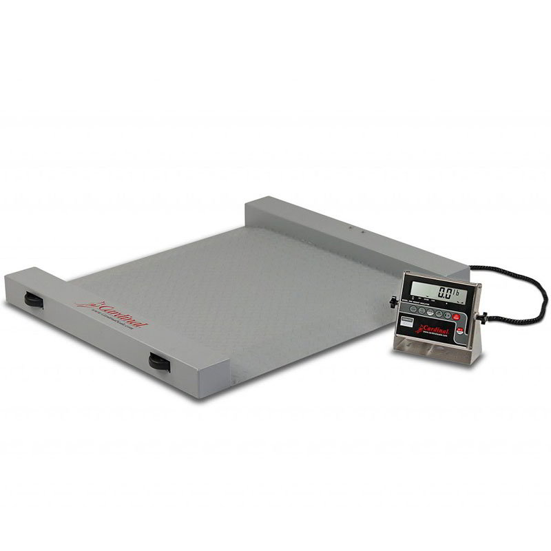 Detecto RW-1000S Portable Digital Run-A-Weigh Floor Scale w/ Stainless, 1000 x .5-lb