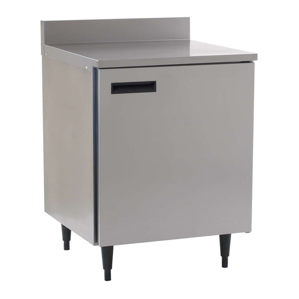 Delfield 403 27 in Freezer Work Top, Stainless Top w/ Splash