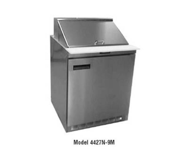 Delfield D4427N-9M 27 in Salad Top Refrigerator, 1 Section/2 Drawers, 9 Pans, Mega Top