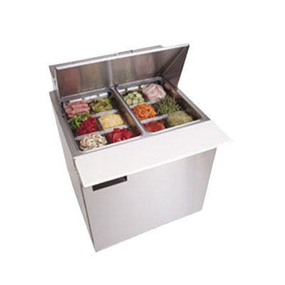 Delfield D4432N-12M 32 in Salad Top Refrigerator, 1 Section/2 Drawers, 12 Pans, Mega Top