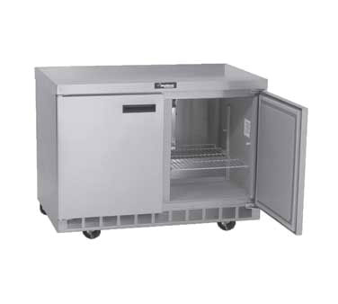 Delfield 4448N 48 in Refrigerated Base, Flat Top, 2 Section