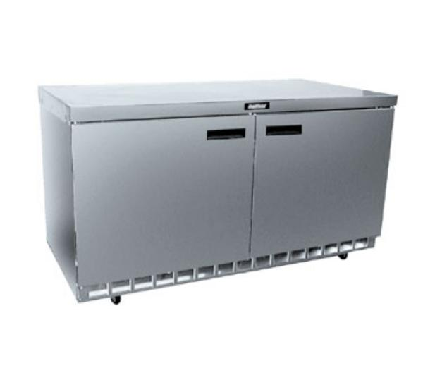 Delfield 4460N 60 in Refrigerated Base, Flat Top, 2 Secti