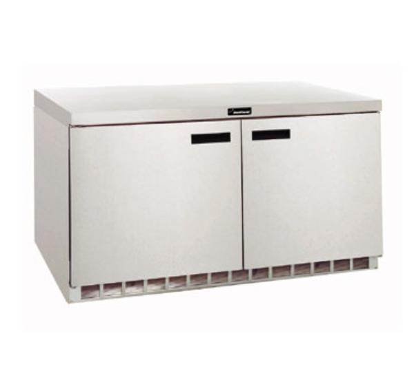 Delfield 4464N 64 in Refrigerated Base, Flat Top, 2 Section