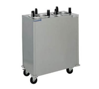 Delfield CAB2-500 Plate Dispenser, Mobile, 2 Tubes, 5 in Max Dish Size, Stainless Steel