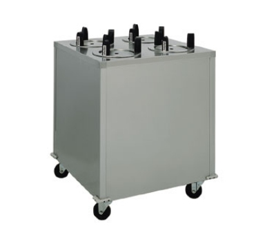 Delfield CAB4-913ET Enclosed Heated Plate Dispenser w/ 4-Self-Elevating Tubes, 9.12-in Diameter