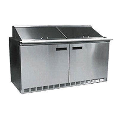 Delfield D4464N-16 64 in Salad Top Refrigerator, 16 Pan, 2 Section/4 Drawers
