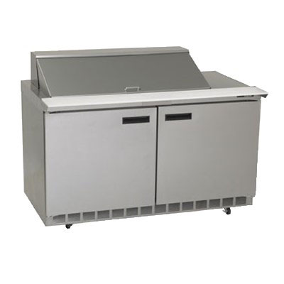 Delfield D4464N-18M 64 in Salad Top Refrigerator, 2 Section/4 Drawers, 18 Pans, Mega Top
