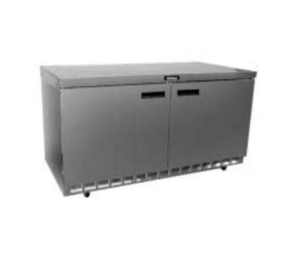 Delfield D4464N 64 in Refrigerated Base, Flat Top, 2 Section, Drawers