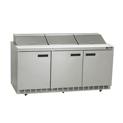 Delfield D4472N-18 72 in Salad Top Refrigerator, 18 Pan, 3 Section/6 Drawers