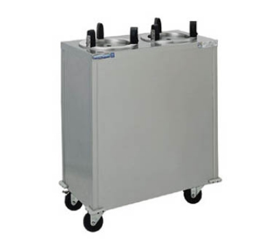 Delfield CAB2-1450QT220 14.5-in Enclosed Mobile Heated Dish Dispenser w/ 2-Stack, 700W, 220 V